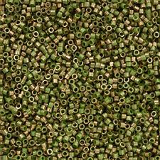 Toho 11/0 Treasures Gilded Marble Green Seed Beads TT-01-1702 7.8g (Q81/8)