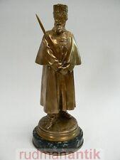 Bronze Figurine E. FREMIET cosaque avec épée fonderie fondeur Barbedienne paris 1890