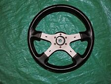 Italvolanti Four Spoke Six Bolt JDM Leather Steering Wheel Black