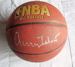 JERRY WEST SIGNED SPALDING BASKETBALL DC/COA LA LAKERS (MR CLUTCH)