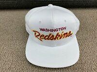 Washington Redskins Sports Specialties Script Hat Snapback Cap White Twill VTG