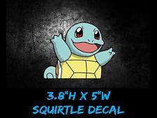 "Pokemon Squirtle SMALL Anime 5""Wide Window Car Decal, Sticker, Pokemon Go USDM"