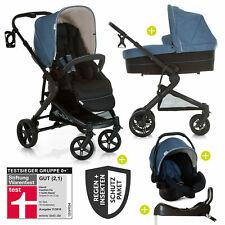 Hauck Kombi Kinderwagen Buggy Atlantic Plus Babyschale, Isofix Basis & Zubehör
