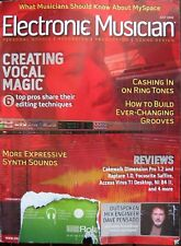 Electronic Musician July 2006 Engineer Dave Pensado Vocal Magic Expressive Synth