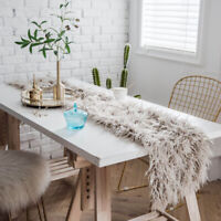 Luxury Faux Wool Table Shaggy Tablecloth Wedding Party Dining Home Decor