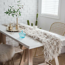 Faux Wool Table Cloth Cover Shaggy Tablecloth Wedding Party Dining Home Decor