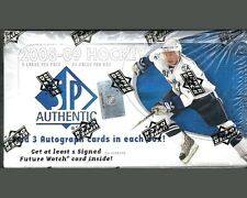 2008-09 SP Authentic Factory Sealed Hockey Hobby Box plus bonus