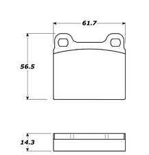 Disc Brake Pad Set-FWD Rear,Front Stoptech 308.00310