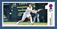GB Andy Murray Playing Stroke at Wimbledon Champion 2013 Tennis on a stamp - U/M