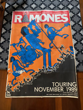 Ramones Vintage Poster Original 1989 Tour Richard Allen Artwork Mambo Design