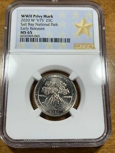 2020-W 25c Salt River Bay NP Quarter NGC MS65 Early Releases