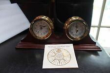 Weems & Plath Commodore's Quartz Clock and Barometer Set Beautiful