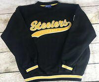 Vintage Starter Pittsburgh Steeler's Embroidered Crew Neck Sweater Men's XL NFL