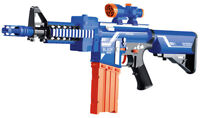 Boys Combat Army Kids Blaze Storm M4 Assault Rifle Play Toy Gun + 20 Soft Darts