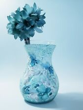 Lily vase pastel spring centerpiece floral table decor, blue home decor, new