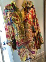 Etro Kaftan Cover Up, Women's Size 48 Vibrant Multicolor