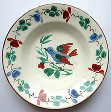 Rare Plate Art Nouveau with the Bird, pottery Wilhelmsburg (Lower Austria) 1893