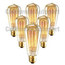 6 Pack 110V 60W Light Bulb Squirrel Cage Filament E26 Base Vintage Retro Edison