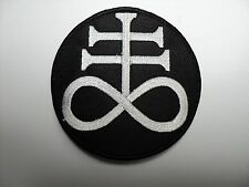 The Leviathan Cross WHITE CIRCLE  EMBROIDERED PATCH