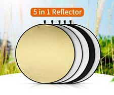 MAODATOU Photographic Reflector Multi Disc Light Reflector SLR Camera Portable Flash Diffuser Reflector Premium Flashing Special Beam Board for All Speedlight Flashes Color : As Shown, Size : Free
