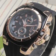 Fashion Men Boy Sport Quartz Wrist Watch Casual Analog Hours Sport Fake Sub Dial