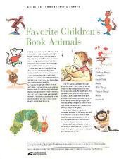 #754 39c Children's Book Animals #3987-3994 USPS Commemorative Stamp Panel