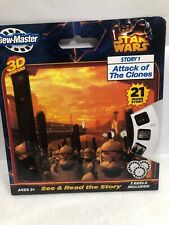 STAR WARS Story 1 Attack of the Clones 3D Classic View-Master 3 Reel Set Sealed