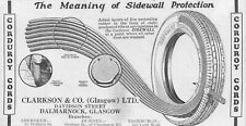 ADVERT - CORDUROY CORDS TYRES - SIDEWALL PROTECTION - CLARKSON & CO., GLASGOW