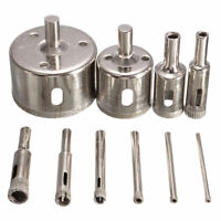 10Pcs Diamond Hole Saw 3-50mm Drill Bit Saw Set Tile Ceramic Marble Glass C E4S6