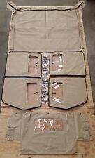 NEW HMMWV 4 Man Soft Top KIT TAN Humvee M998  4 Doors, C-Pillar, Bows, Rails