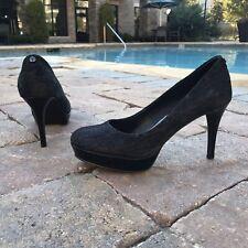 Tahari High Heel Black Pumps Size 6.5 Sophia Round Closed Toe