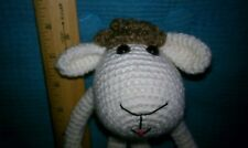 Coco, a handcrafted/crocheted/amigurumi lamb