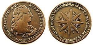 Spain-Carlos IV. Proclamación 1789. CARMONA.  Plata 11 g. Escasa