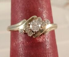 10K Yellow Gold Genuine Diamond Solitaire FREE SIZING! ! !