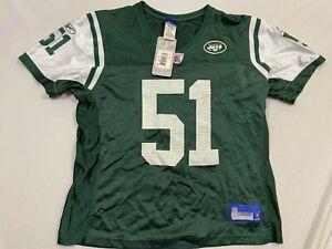 M99 REEBOK New York Jets Jonathan Vilma Green Football Jersey WOMEN'S L Large