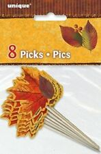 Fall Beauty Cupcake Dessert Picks 12 ct Leaves Leaf Pick
