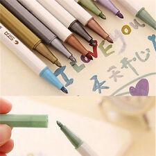 Color Metallic Fine Pen Pencil Marker DIY Album Dauber Pen Set Waterproof 10x ab
