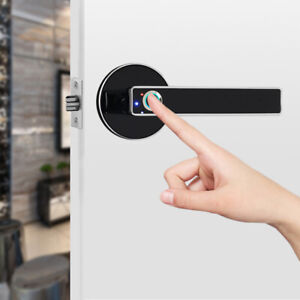 Electronic Fingerprint Door Lock Stainless Steel Automatic Home Security Safety