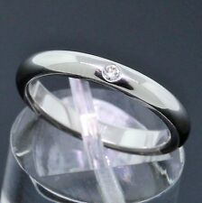 Tiffany & Co. Elsa Peretti Platinum PT950 Diamond Stack Band Ring Size 5