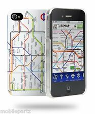 Cygnett Blanco London Underground Map Funda Y Protector De Pantalla Para Iphone 4 / 4s