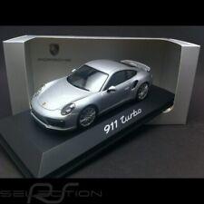 Porsche 911 type 991 Turbo II 2016 argent rhodium 1/43 Herpa WAP0201320G