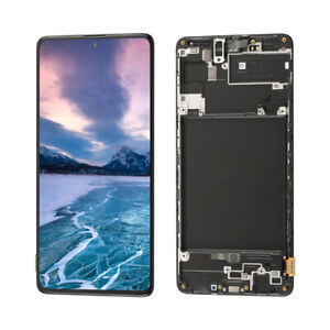 OLED For Samsung Galaxy A71 (A715) 2020 LCD Display Touch Screen Digitizer+Frame