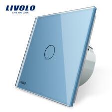 Livolo Touch Schalter Glas 2 Gang Lichtschalter Steckdose mit Led-anzeige