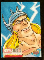 2019 UPPER DECK MARVEL STUDIOS 1ST 10 YEARS 1/1 HAND DRAWN SKETCH CARD * THOR *