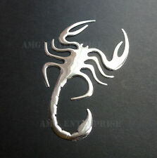 Adhesive Chrome Effect Scorpion Badge Decal for Peugeot 107 207 307 407 GTi HDi