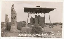 AZ * Casa Grande National Monument SW Corner Bldg. * Frashers RPPC 1934