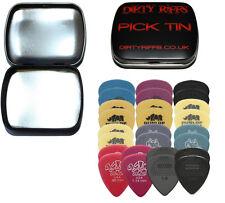 26 Dunlop Heavy Guitar Picks Variety - Tortex, Nylon, Ultex In A Handy Pick Tin