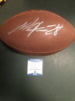 Melvin Gordon Autograph Custom Football, Denver Broncos, Los Angeles Chargers