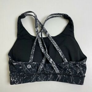 Womens Lululemon Padded Sports Bra Size 4 Excellent Floral