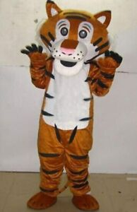 Tiger Mascot Costume  Cosplay Party Dress Clothing Carnival Halloween  Adults